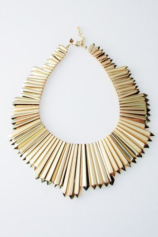 Mini Dagger Necklace in Gold by Belle Noel for $182.00