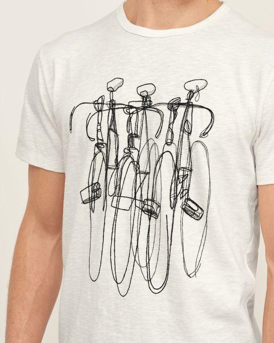 Mens - Embroidered Bike Graphic Tee   Mens - Graphic Tees   eu.Abercrombie.com