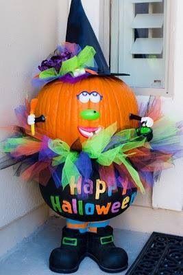 Awww cute! Looks like Mrs. Pumpkin Head, instead of Mrs. Potato Head! Haha