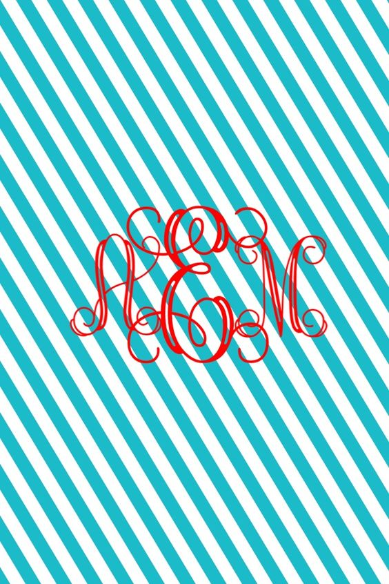 Let's Be Preppy!: DIY Monogrammed Phone Background