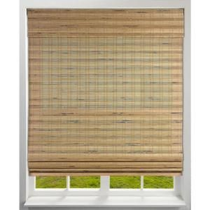 Arlo Blinds Tuscan Cordless Light Filtering Bamboo Woven Roman Shade 44 In W X 60 In L Actual Size 04cbj440600 The Home Depot Woven Roman Shades Bamboo Roman Shades Bamboo Shades