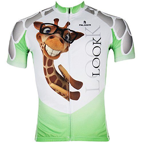 New Style Mens Short Sleeve Bicycle Cycling Jersey Quick Dry Outdoor Jersey  Giraffe *** You can get additional details at the image link.