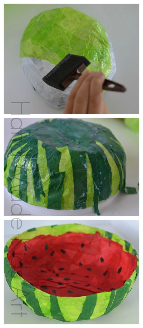 Easy sweet paper bowl craft for kids crafts for kids for Simple paper mache projects