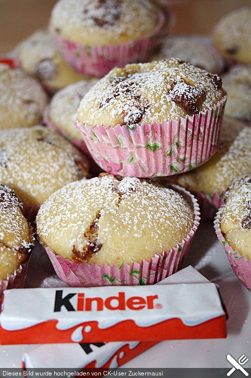 kinderschokolade muffins backen pinterest muffins backen und kuchen. Black Bedroom Furniture Sets. Home Design Ideas