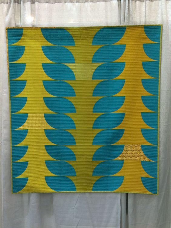 Melanie Touzan's Flounce quilt at #QuiltCon2016 Quilt Show