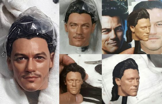 Luke Evans as Gaston custom repaint of Disney Store Gaston doll from the Beauty and the Beast 2017 movie custom one-of-a-kind repaint by Noel Cruz. Based upon the 2017 live action film will be up for auction at http://www.ebay.com/usr/ncruz_doll_art.  See more of Noel's work at http://www.ncruz.com.  For more details about the doll visit eBay.  Noel has added hair and is in the process of finishing Gaston and Belle for eBay auction.