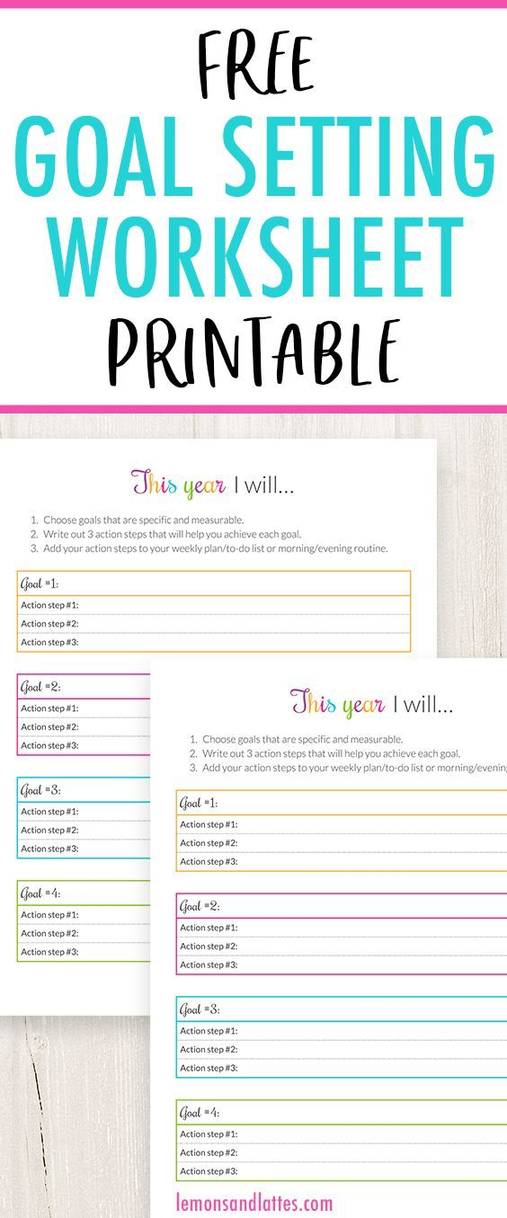Free Goal Setting Worksheet Pdf Download And Print Instantly Goal Setting Worksheet Goal Planning Worksheet Free Goal Setting Worksheet