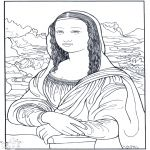 Coloring artworks and famous artwork on pinterest for Famous paintings coloring pages