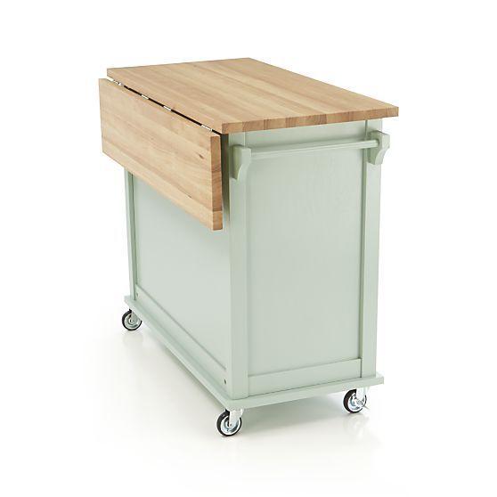 Belmont mint kitchen island in dining amp kitchen storage crate and
