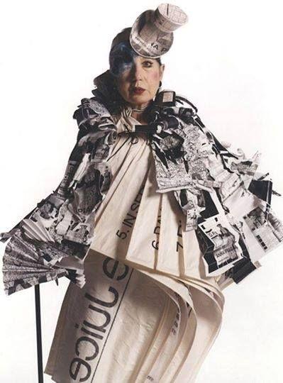 Style icon Anna Piaggi   #annapiaggi