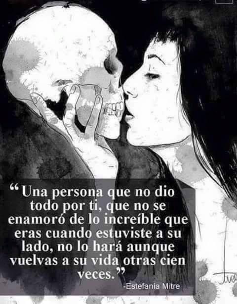 〽️ Una persona que no dio todo por ti, que no se enamoro de lo increíble que eras cuando estuviste a su lado... Estefania Mitre