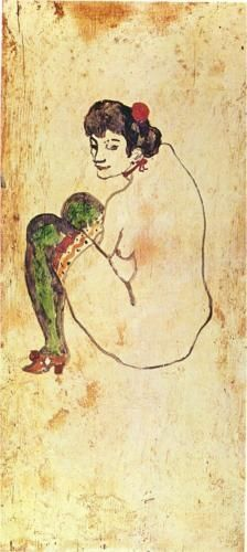 Woman with green stockings - Pablo Picasso