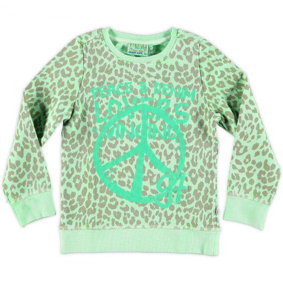 Neon groene sweater van Vingino