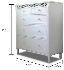 Best Large White Fretwork Chest Of Drawers White Bedroom 400 x 300