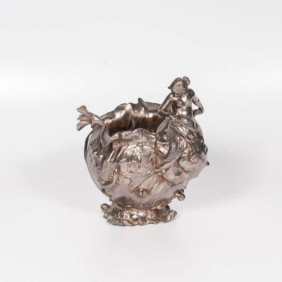Silverplate Art Nouveau Vase (9/6/2014 - Cleveland Inaugural Auction: Live Salesroom Auction)