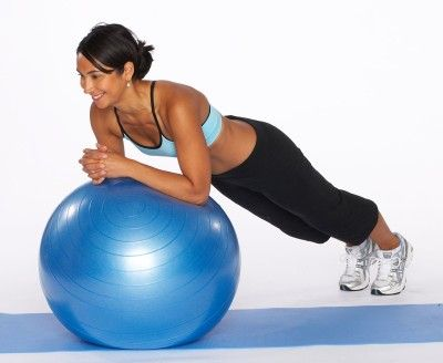 quick core-strengthening moves using an exercise ball