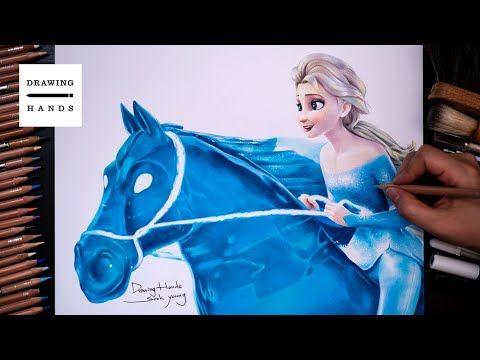 Drawing Frozen2 Elsa Nokk Show Yourself Drawing Hands Youtube In 2021 Disney Canvas Art Disney Canvas Anna Frozen Drawing