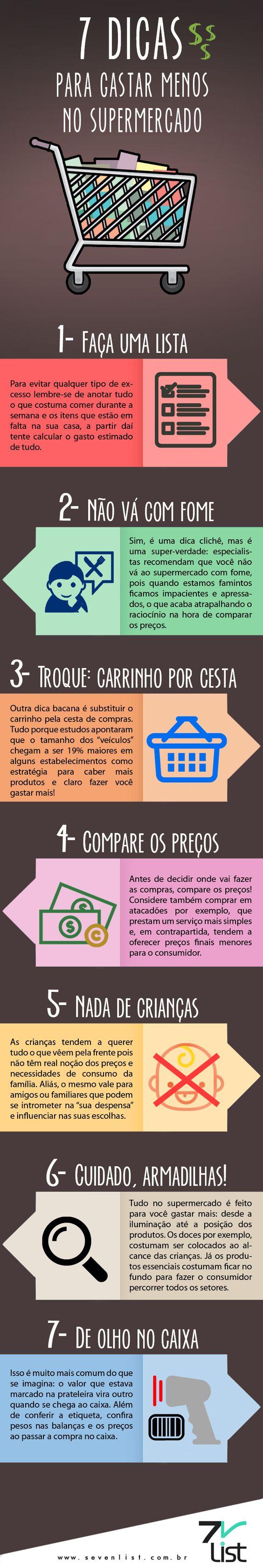 #infográfico #infographic #dicas #compras #supermercado #dinheiro #economia