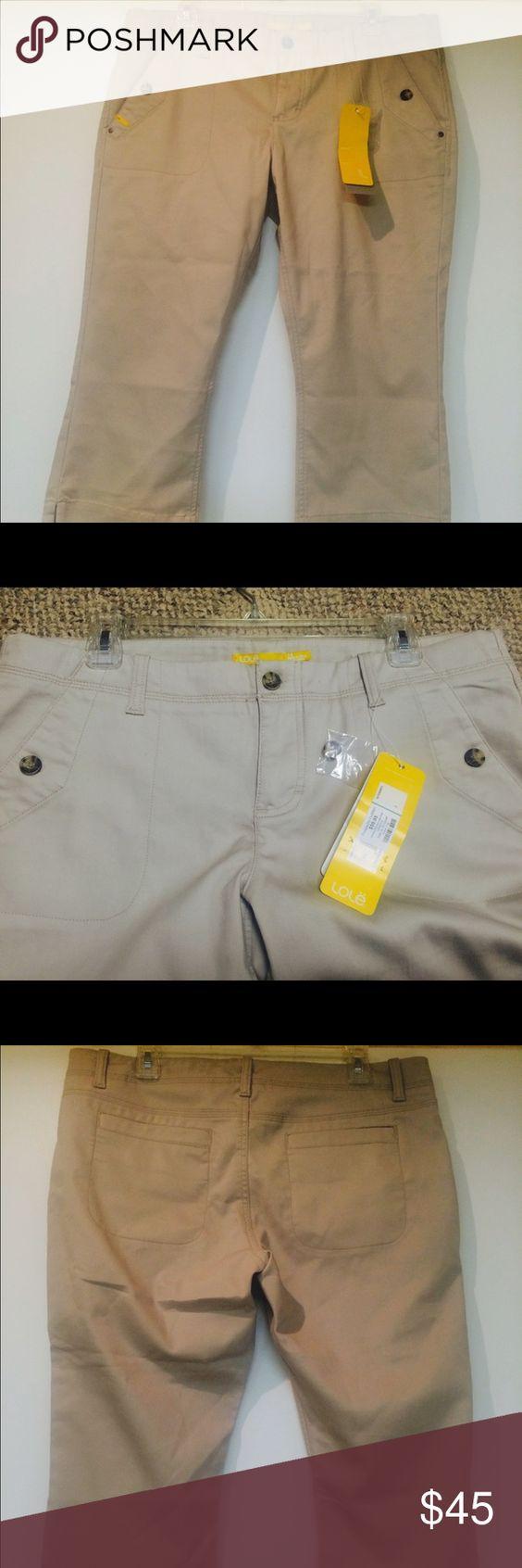 Like khaki capri's Promenade Capri 66% cotton 31% polyester stretchy Capri pants with front and back pockets. Lole Pants Capris