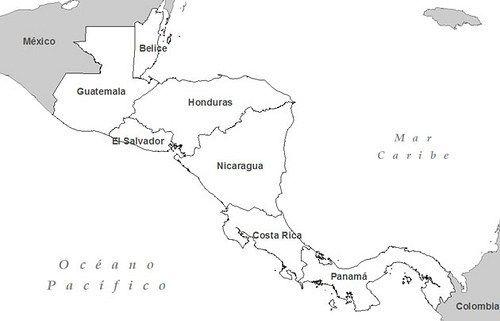 Mapa De Centroamerica Para Colorear Imagenes Del Mapa De America