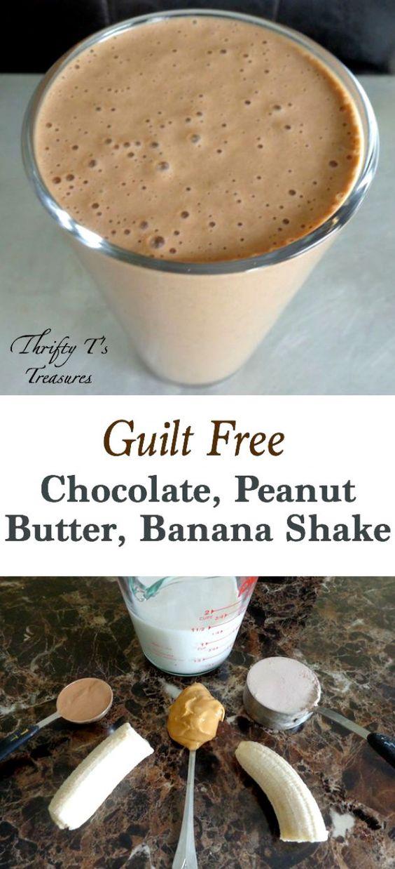 Healthy Chocolate Peanut Butter Banana Shake - Tshanina Peterson