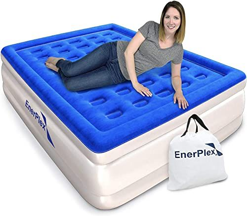 Buy Enerplex Premium Luxury Queen Size Air Mattress Inflatable Airbed Built Pump Raised Double High Queen Blow Up Bed Home Camping Travel 2 Year Warranty Onl In 2020 Inflatable Bed Blow Up