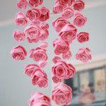 Mini-rosette mobile - Sweet as can be! #nursery #mobile