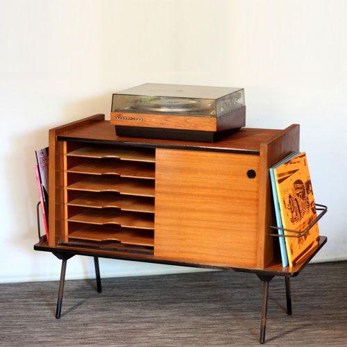 Meuble Vinyle Quel Modele Choisir Pour Un Interieur Au Look Vintage Meuble Vinyle Rangement Vinyle Vinyle