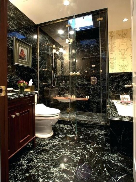 Green And Black Bathroom Ideas Black Marble Bathroom Masculine