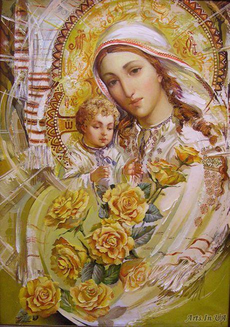 Божа Мати з трояндами / О. Охапкін:
