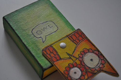 Owl Matchbox - PAPER CRAFTS, SCRAPBOOKING & ATCs (ARTIST TRADING CARDS)