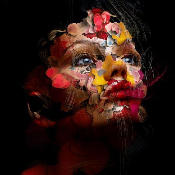 Clever synergy in this portraits #graphic #design: Photo Collage, Art Work, Photoshop Art, Digital Art, Photo Manipulation, Fine Art, Ux/Ui Designer