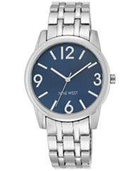 Nine West Women's Stainless Steel Bracelet Watch 39mm NW/1765NVSB