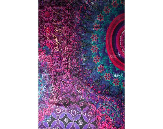Foulard en sergé violet | Desigual.com C