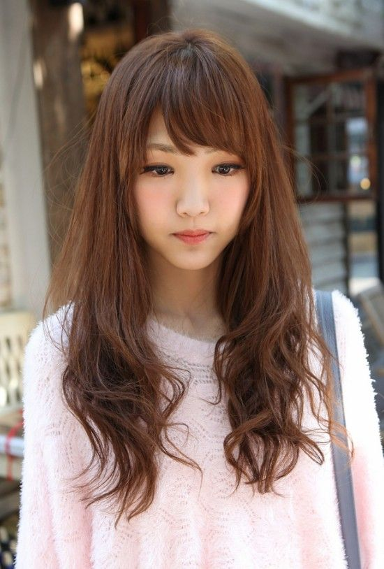 Tremendous Korean Hairstyles Sweet And Long Hairstyles On Pinterest Hairstyle Inspiration Daily Dogsangcom
