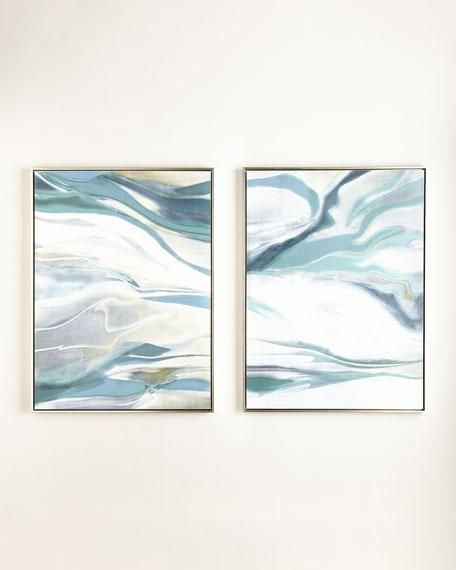 Two Piece Blue and White Giclee