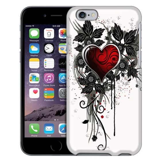 Apple iPhone 6 Highlighted Heart Red on White Case