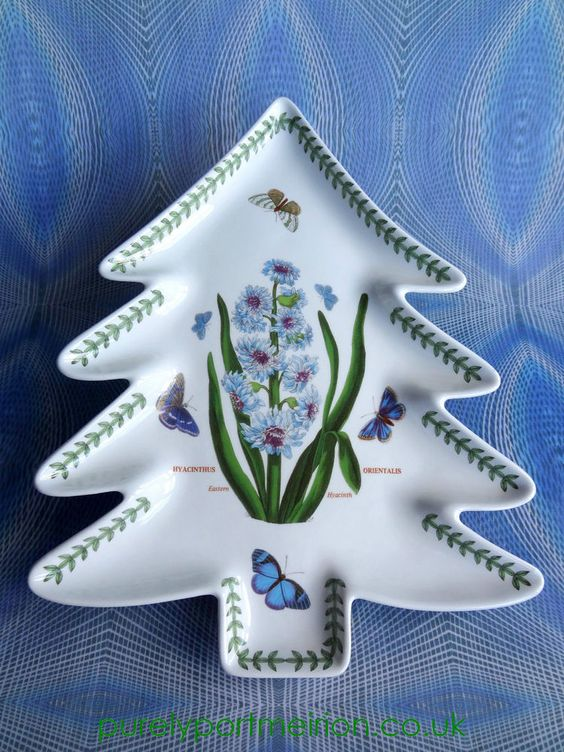 Portmeirion christmas tree shaped plate in botanic garden for Portmeirion botanic garden designs