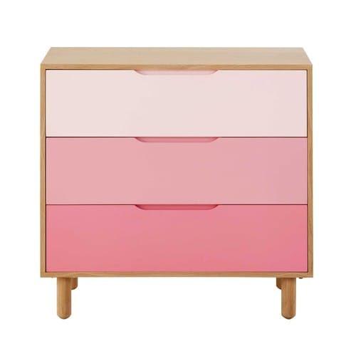 Kinderkommode aus Holz rosa L 83 cm