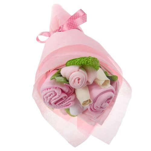 Pink Bouquet 3-6 Months Bouquet of Baby Clothing Baby Gift Baby Girl