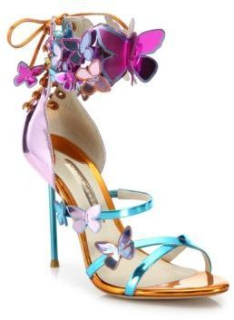 Sophia Webster Harmony Metallic Leather Butterfly Sandals