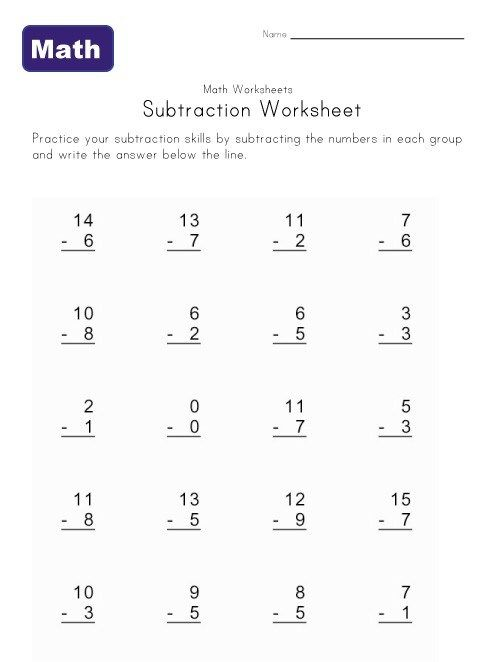16 Easy Math Worksheets In 2020 Math Worksheets Subtraction Worksheets Basic Math Worksheets