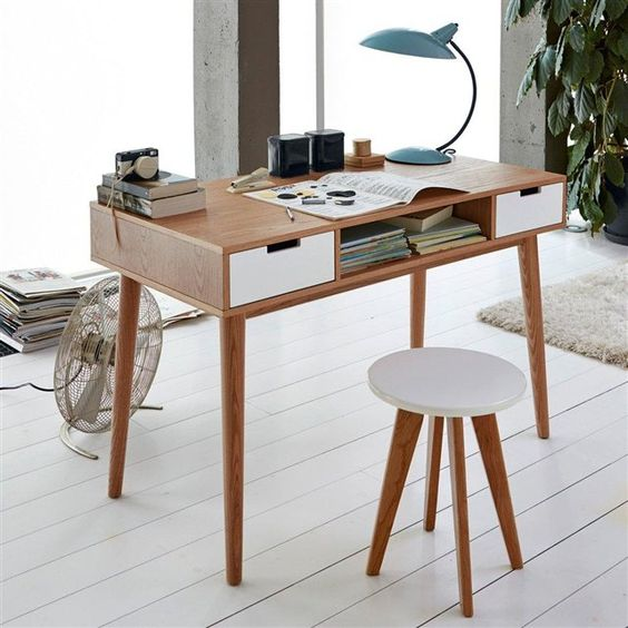 Bureau vintage jimi style vintage livres et mobiles - Bureau architecte maison du monde ...