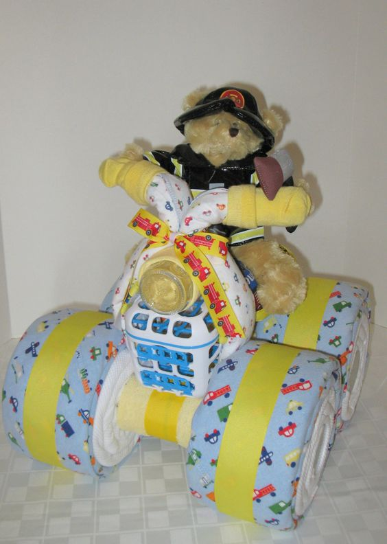Baby Gifts To Make Pinterest : Baby gifts to make fireman fire fighter gift