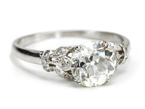 Old European Diamond Ring 1.92 Carats