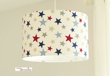 Lámpara infantil con estrellas