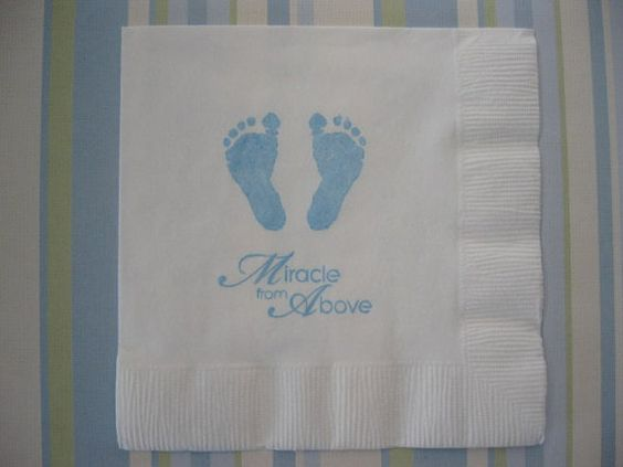 50 baby feet paper napkins baptism decorations baby girl for Baby dedication decoration ideas