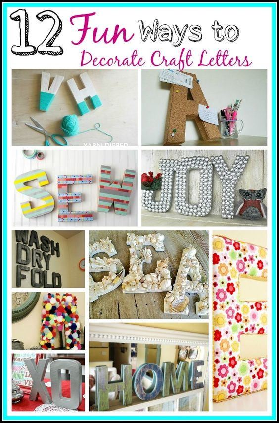 Craft Letters Letters Decoration And Fun Diy On Pinterest