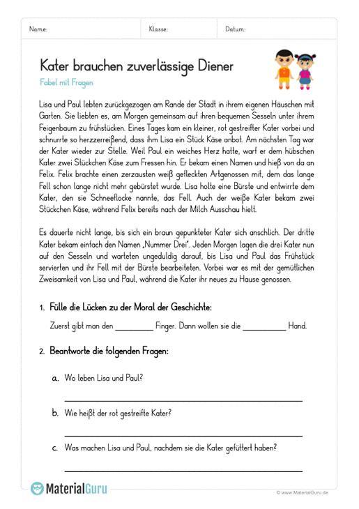 Fabeln Materialguru Lernen Tipps Schule Fabeln Fabeln Grundschule