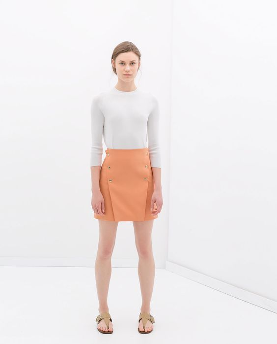 FLARED SKIRT WITH BUTTONS from Zara